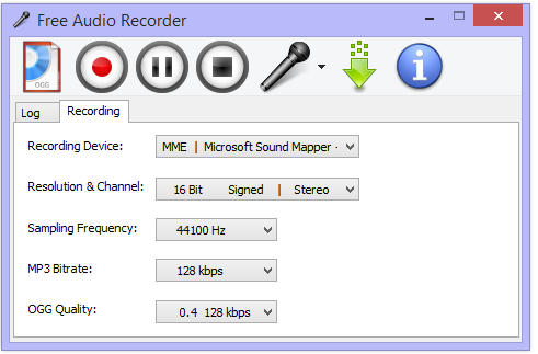 FREE Audio Recorder, Voice Recorder, Windows 10/8 1/7 compatible