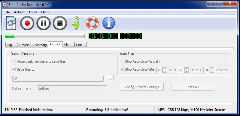 Free Audio Recorder Screen shot